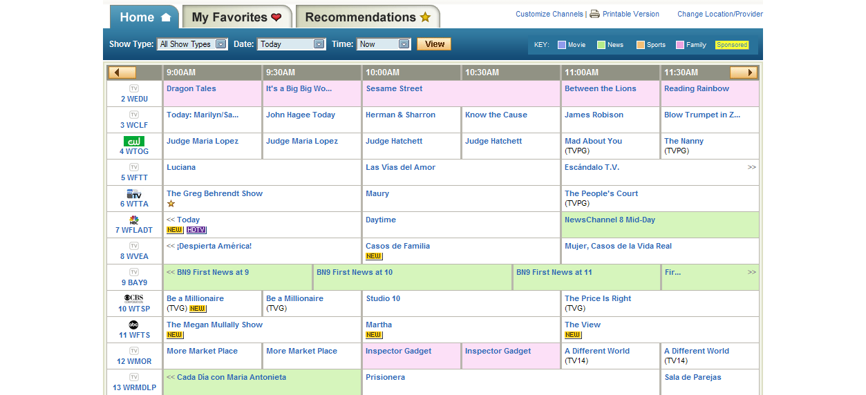 AOL TV Listings  GoodBlimey ~ Wand Tv Programming Schedule